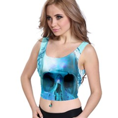 Skull In Water Full All Over Print Crop Top by icarusismartdesigns
