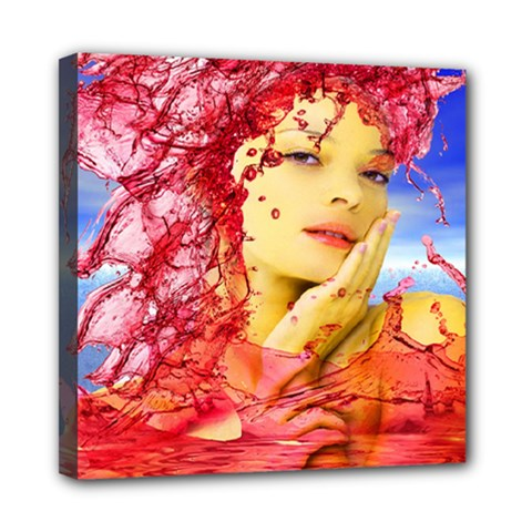 Tears Of Blood Mini Canvas 8  X 8  (framed) by icarusismartdesigns