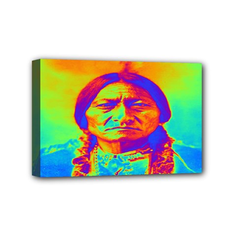 Sitting Bull Mini Canvas 6  X 4  (framed) by icarusismartdesigns