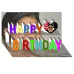 bday babi - Happy Birthday 3D Greeting Card (8x4)