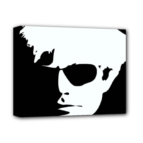 Warhol Deluxe Canvas 14  X 11  (framed) by icarusismartdesigns