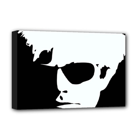 Warhol Deluxe Canvas 18  X 12  (framed) by icarusismartdesigns