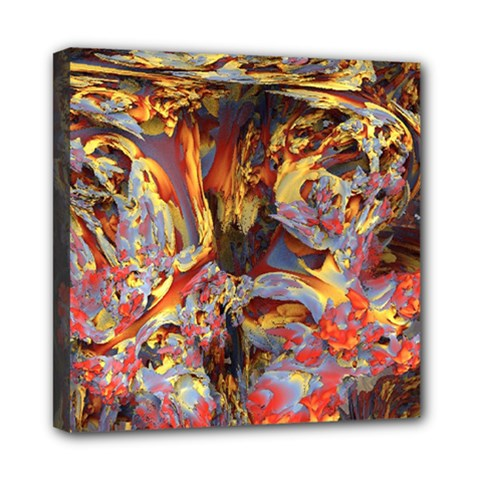 Abstract 4 Mini Canvas 8  X 8  (framed) by icarusismartdesigns