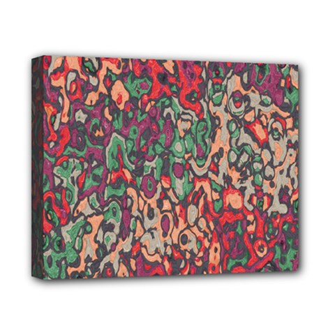 Color Mix Canvas 10  X 8  (stretched) by LalyLauraFLM