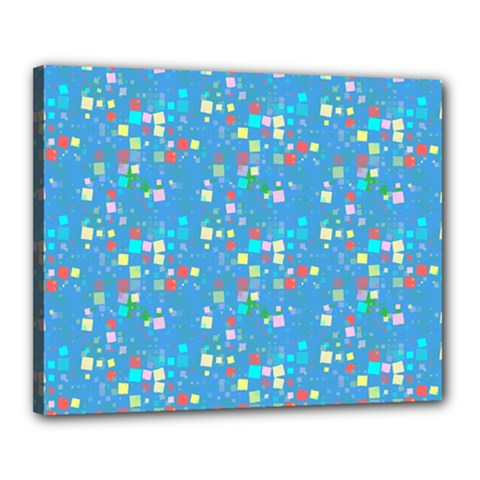 Colorful Squares Pattern Canvas 20  X 16  (stretched)