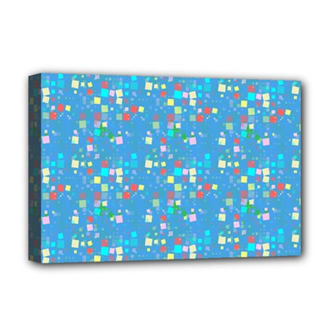 Colorful Squares Pattern Deluxe Canvas 18  X 12  (stretched)
