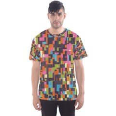 Colorful Pixels Men s Full All Over Print Sport T Shirt by LalyLauraFLM