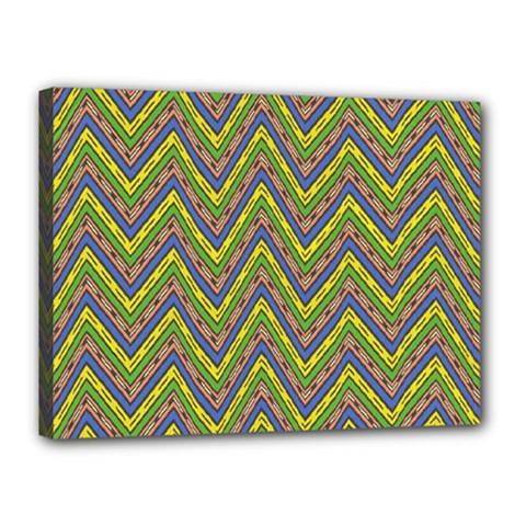 Zig Zag Pattern Canvas 16  X 12  (stretched) by LalyLauraFLM