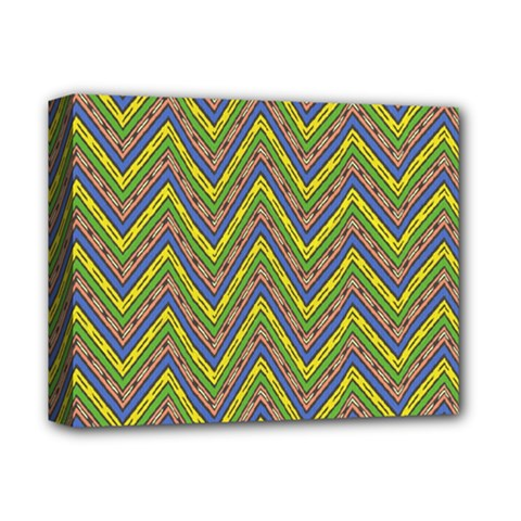 Zig Zag Pattern Deluxe Canvas 14  X 11  (stretched)