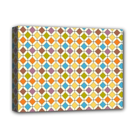 Colorful Rhombus Pattern Deluxe Canvas 16  X 12  (stretched)  by LalyLauraFLM