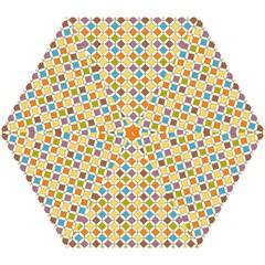 Colorful Rhombus Pattern Mini Folding Umbrella by LalyLauraFLM