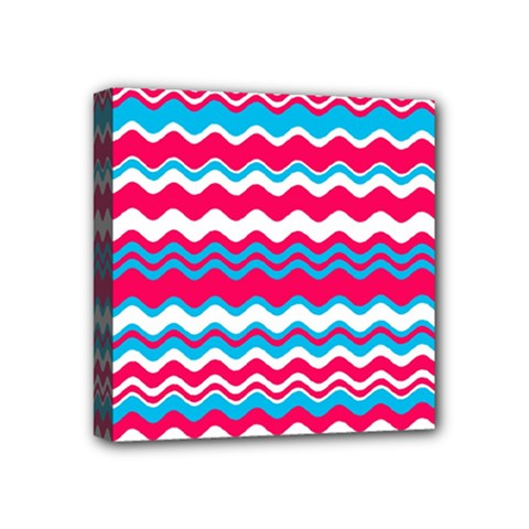 Waves Pattern Mini Canvas 4  X 4  (stretched) by LalyLauraFLM