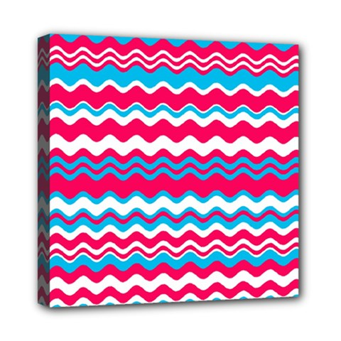 Waves Pattern Mini Canvas 8  X 8  (stretched) by LalyLauraFLM