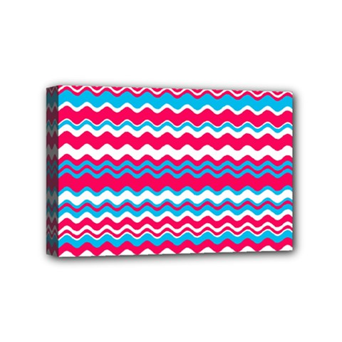 Waves Pattern Mini Canvas 6  X 4  (stretched)