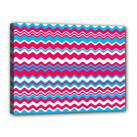 Waves Pattern Canvas 16  X 12  (stretched) by LalyLauraFLM