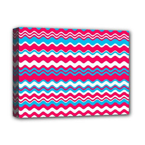 Waves Pattern Deluxe Canvas 16  X 12  (stretched)  by LalyLauraFLM