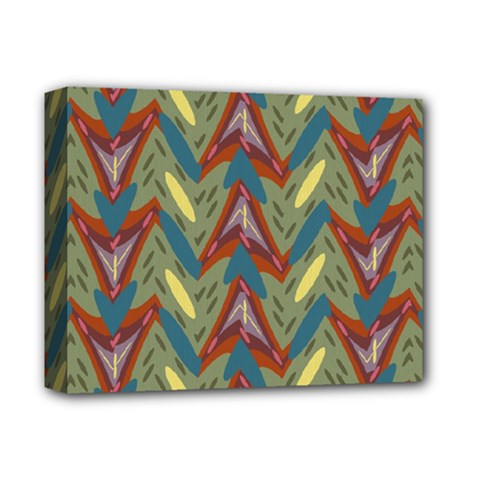 Shapes Pattern Deluxe Canvas 14  X 11  (stretched) by LalyLauraFLM
