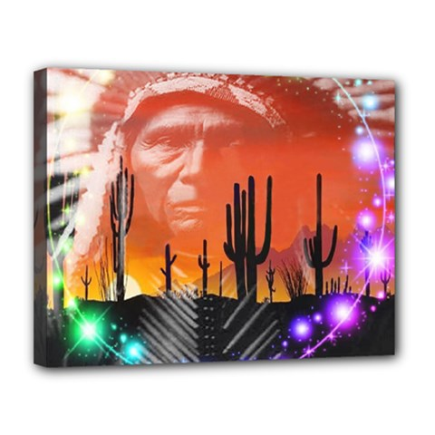 Ghost Dance Canvas 14  X 11  (framed) by icarusismartdesigns