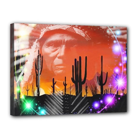 Ghost Dance Canvas 16  X 12  (framed) by icarusismartdesigns