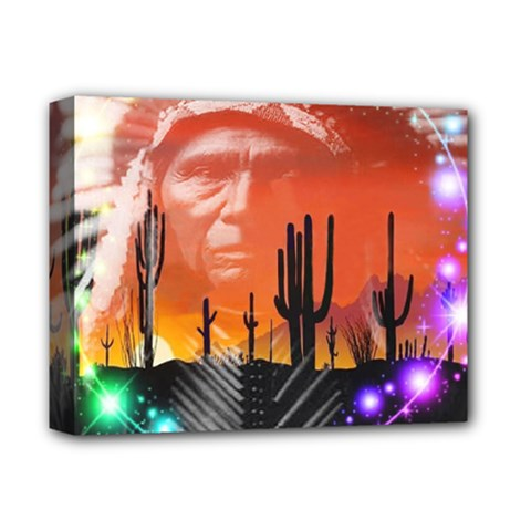 Ghost Dance Deluxe Canvas 14  X 11  (framed) by icarusismartdesigns
