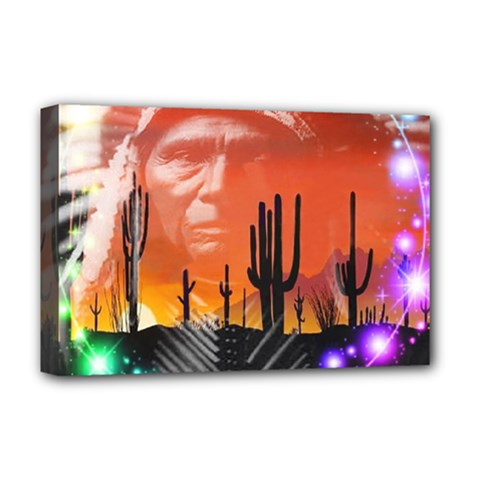 Ghost Dance Deluxe Canvas 18  X 12  (framed) by icarusismartdesigns