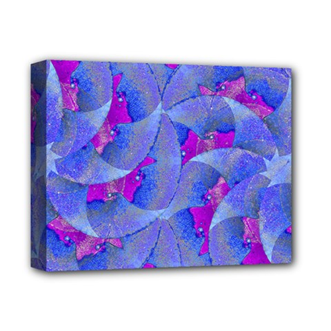 Abstract Deco Digital Art Pattern Deluxe Canvas 14  X 11  (framed) by dflcprints