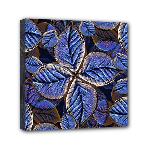 Fantasy Nature Pattern Print Mini Canvas 6  X 6  (framed) by dflcprints