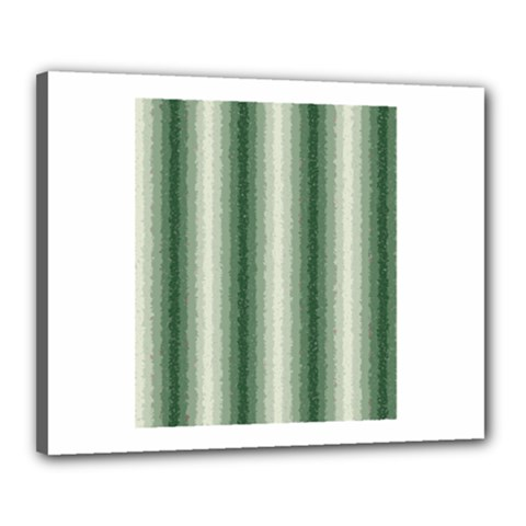 Dark Green Curly Stripes Canvas 20  x 16  (Framed) by BestCustomGiftsForYou