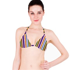 Vivid Colors Curly Stripes - 1 Bikini Top by BestCustomGiftsForYou