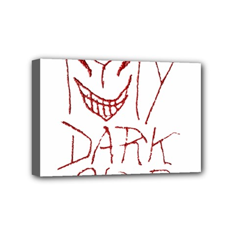 My Dark Side Typographic Design Mini Canvas 6  X 4  (framed) by dflcprints