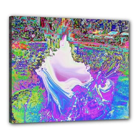 Splash1 Canvas 24  X 20  (framed) by icarusismartdesigns