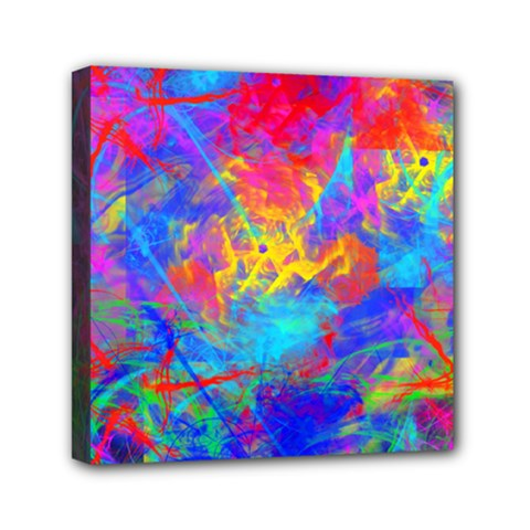Colour Chaos  Mini Canvas 6  X 6  (framed) by icarusismartdesigns