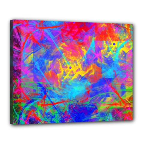 Colour Chaos  Canvas 20  X 16  (framed) by icarusismartdesigns