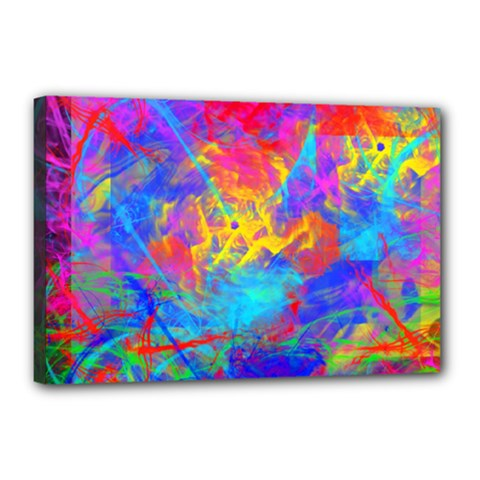 Colour Chaos  Canvas 18  X 12  (framed) by icarusismartdesigns