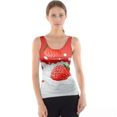 Strawberry Milk Tank Top Full All Over Print Tank Top by DannyDesign