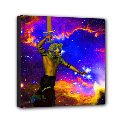 Star Fighter Mini Canvas 6  X 6  (framed) by icarusismartdesigns