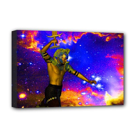 Star Fighter Deluxe Canvas 18  X 12  (framed) by icarusismartdesigns