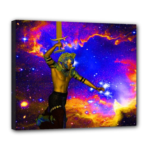 Star Fighter Deluxe Canvas 24  X 20  (framed) by icarusismartdesigns