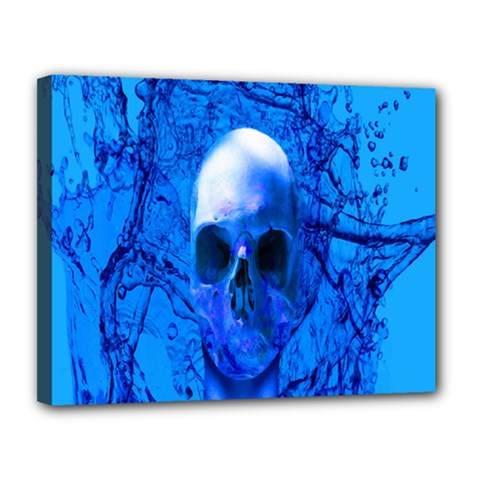 Alien Blue Canvas 14  X 11  (framed) by icarusismartdesigns