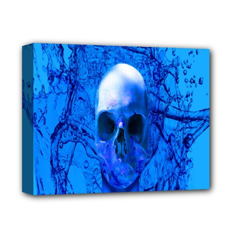 Alien Blue Deluxe Canvas 14  X 11  (framed) by icarusismartdesigns