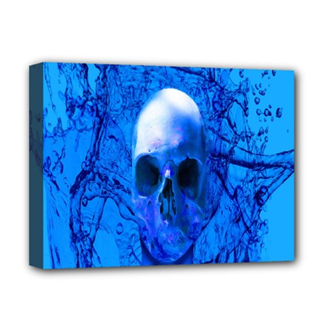 Alien Blue Deluxe Canvas 16  X 12  (framed)  by icarusismartdesigns