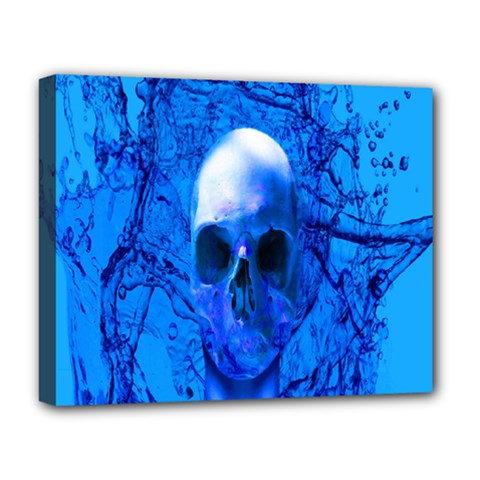 Alien Blue Deluxe Canvas 20  X 16  (framed) by icarusismartdesigns