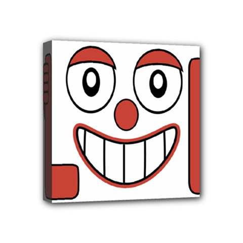 Laughing Out Loud Illustration002 Mini Canvas 4  X 4  (framed) by dflcprints