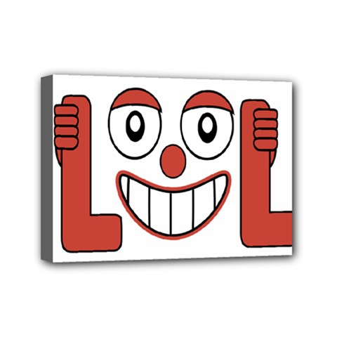 Laughing Out Loud Illustration002 Mini Canvas 7  X 5  (framed) by dflcprints