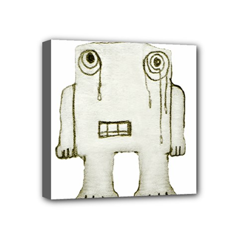 Sad Monster Baby Mini Canvas 4  X 4  (framed) by dflcprints