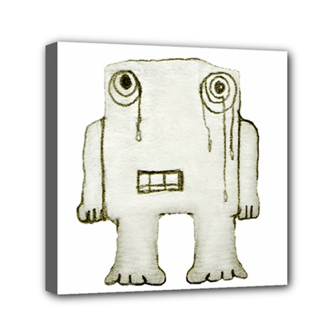 Sad Monster Baby Mini Canvas 6  X 6  (framed)