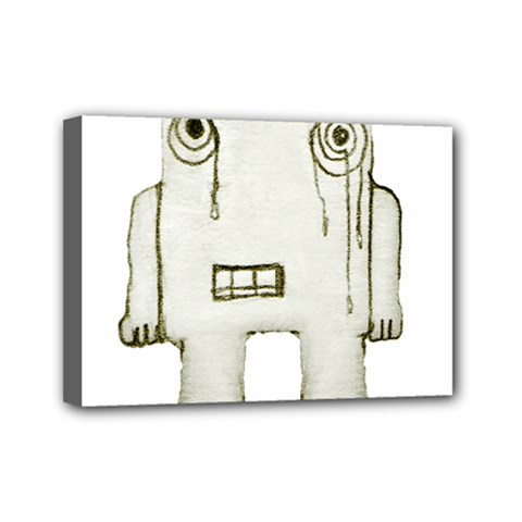Sad Monster Baby Mini Canvas 7  X 5  (framed) by dflcprints