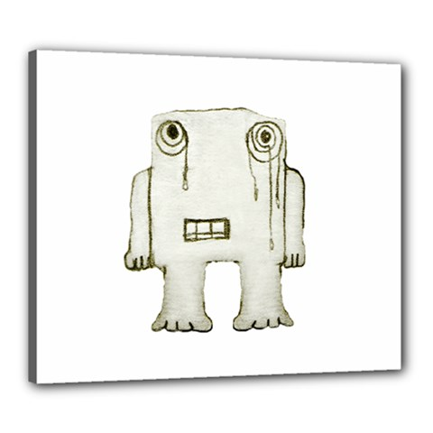 Sad Monster Baby Canvas 24  X 20  (framed) by dflcprints