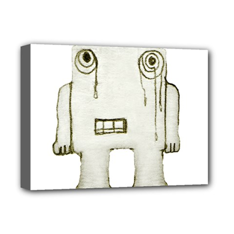 Sad Monster Baby Deluxe Canvas 16  X 12  (framed)  by dflcprints