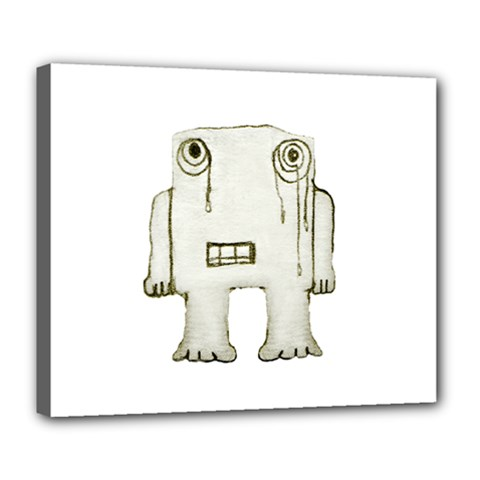 Sad Monster Baby Deluxe Canvas 24  X 20  (framed) by dflcprints